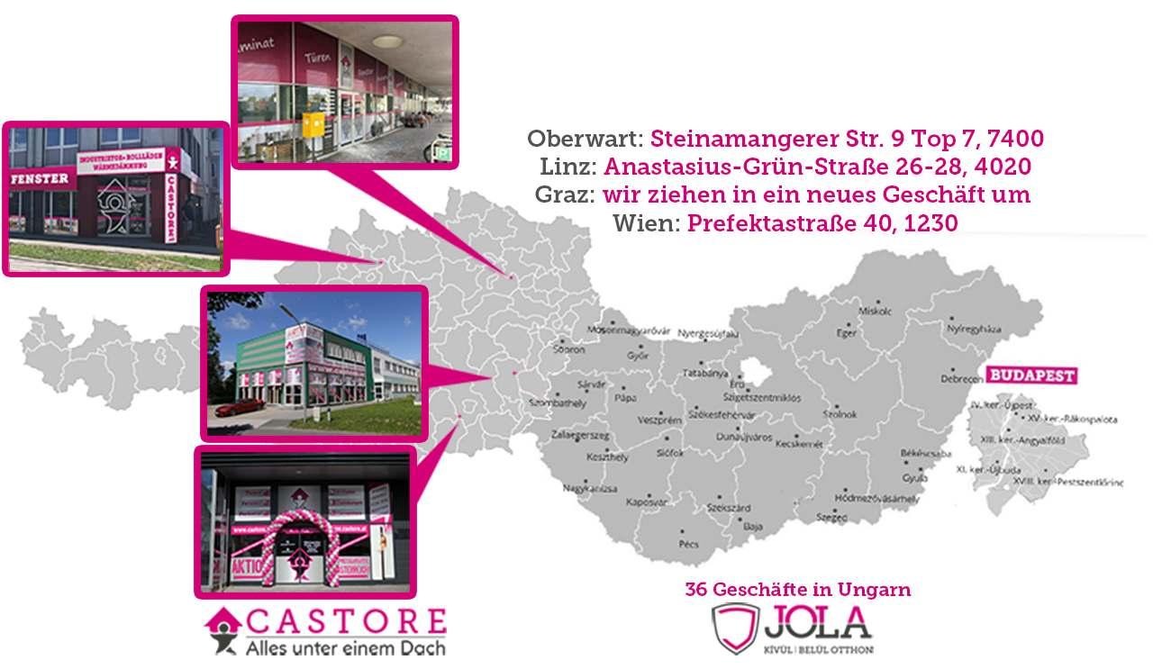 Castore und JOLA in Österreich und in Ungarn